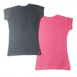 HVM Girls Printed Cotton Blend T Shirt