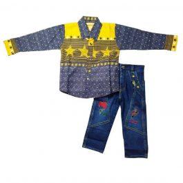 HVM Boys Denim Jeans & Cotton Shirt