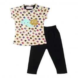 HVM Girls T-Shirt & Capri Set