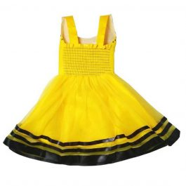 HVM Girls Party Wear Net Frock