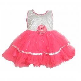HVM Baby Girl Party Wear Frock (12-18M, 18-24M, 2-3Y)