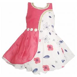 HVM Baby Girl Party Wear Frock (12-18M, 18-24M, 2-3Y, 3-4Y, 4-5Y, 5-6Y)