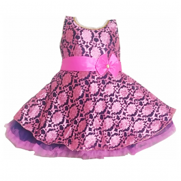 HVM Baby Girl Party Wear Frock (12-18M, 18-24M, 2-3Y)