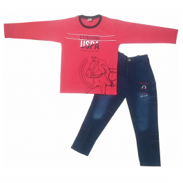 HVM Boys Full Sleeves Dress (7-8Y)