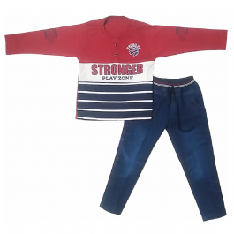 HVM Boys Full Sleeves Dress (2-3Y)