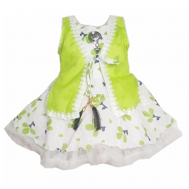 HVM Baby Girl Party Wear Frock (12-18M, 18-24M, 2-3Y, 3-4Y, 4-5Y, 5-6Y)