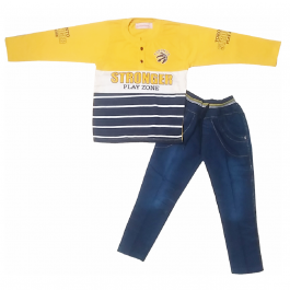 HVM Boys Full Sleeves Dress (3-4Y)