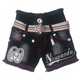 HVM Baby Girls Denim Shorts-6-12M, 12-18M, 18-24M, 2-3Y, 3-4Y, 4-5Y