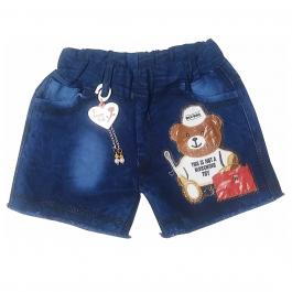 HVM Baby Girls Denim Shorts-9-10Y, 10-11Y, 11-12Y