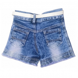 HVM Baby Girls Denim Shorts-1-2Y, 2-3Y