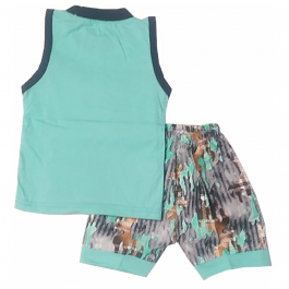 HVM Baby T-Shirt & Shorts Set-6-12M