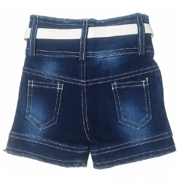 HVM Baby Girls Denim Shorts-0-3M, 3-6M, 6-12M, 12-18M, 18-24M, 2-3Y