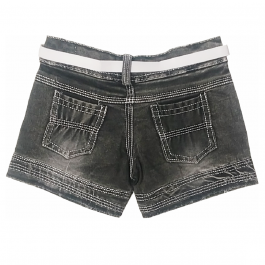 HVM Baby Girls Denim Shorts-1-2Y, 2-3Y, 3-4Y, 4-5Y, 5-6Y, 6-7Y