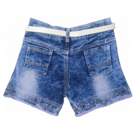 HVM Baby Girls Denim Shorts-3-4Y, 4-5Y, 5-6Y