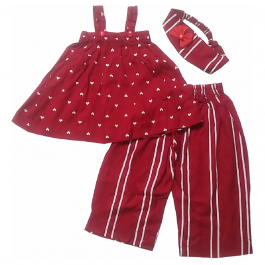HVM Top & Palazzo Set For Girls