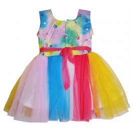 HVM Baby Girl Party Wear Frock (6-12M, 12-18M, 18-24M, 2-3Y, 3-4Y, 4-5Y)